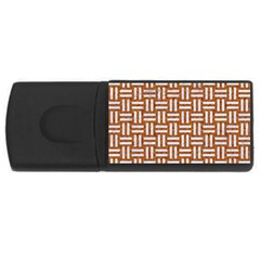 WOVEN1 WHITE MARBLE & RUSTED METAL Rectangular USB Flash Drive