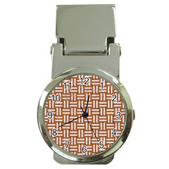 WOVEN1 WHITE MARBLE & RUSTED METAL Money Clip Watches