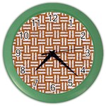WOVEN1 WHITE MARBLE & RUSTED METAL Color Wall Clocks Front