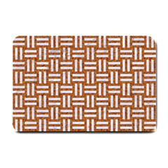 WOVEN1 WHITE MARBLE & RUSTED METAL Small Doormat