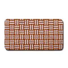WOVEN1 WHITE MARBLE & RUSTED METAL Medium Bar Mats