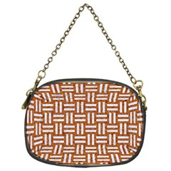 WOVEN1 WHITE MARBLE & RUSTED METAL Chain Purses (One Side)
