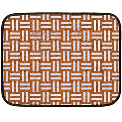 WOVEN1 WHITE MARBLE & RUSTED METAL Double Sided Fleece Blanket (Mini)
