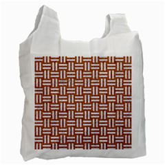 WOVEN1 WHITE MARBLE & RUSTED METAL Recycle Bag (One Side)
