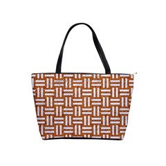 WOVEN1 WHITE MARBLE & RUSTED METAL Shoulder Handbags