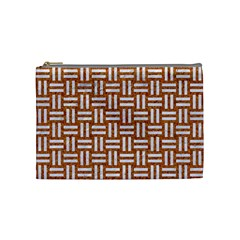 WOVEN1 WHITE MARBLE & RUSTED METAL Cosmetic Bag (Medium)