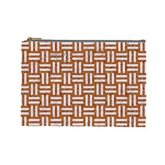 WOVEN1 WHITE MARBLE & RUSTED METAL Cosmetic Bag (Large)