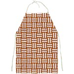 WOVEN1 WHITE MARBLE & RUSTED METAL Full Print Aprons Front