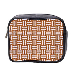 WOVEN1 WHITE MARBLE & RUSTED METAL Mini Toiletries Bag 2-Side