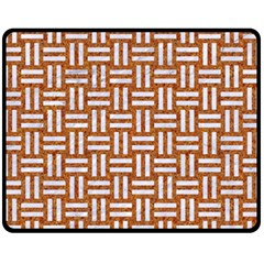 WOVEN1 WHITE MARBLE & RUSTED METAL Fleece Blanket (Medium)