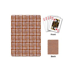 WOVEN1 WHITE MARBLE & RUSTED METAL Playing Cards (Mini)