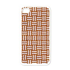 WOVEN1 WHITE MARBLE & RUSTED METAL Apple iPhone 4 Case (White)