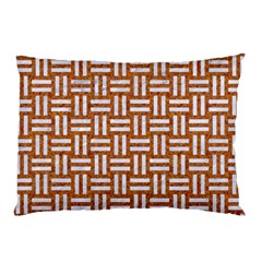 WOVEN1 WHITE MARBLE & RUSTED METAL Pillow Case (Two Sides)