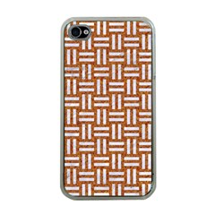 WOVEN1 WHITE MARBLE & RUSTED METAL Apple iPhone 4 Case (Clear)