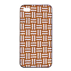 WOVEN1 WHITE MARBLE & RUSTED METAL Apple iPhone 4/4s Seamless Case (Black)