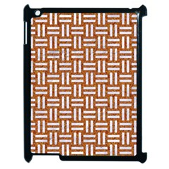 WOVEN1 WHITE MARBLE & RUSTED METAL Apple iPad 2 Case (Black)