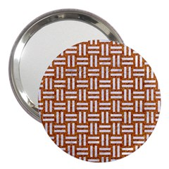 WOVEN1 WHITE MARBLE & RUSTED METAL 3  Handbag Mirrors