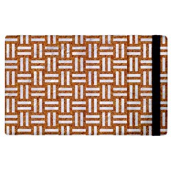 Woven1 White Marble & Rusted Metal Apple Ipad 2 Flip Case by trendistuff