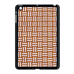 WOVEN1 WHITE MARBLE & RUSTED METAL Apple iPad Mini Case (Black)