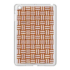 WOVEN1 WHITE MARBLE & RUSTED METAL Apple iPad Mini Case (White)