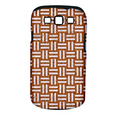 Woven1 White Marble & Rusted Metal Samsung Galaxy S Iii Classic Hardshell Case (pc+silicone)