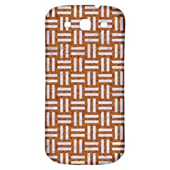 WOVEN1 WHITE MARBLE & RUSTED METAL Samsung Galaxy S3 S III Classic Hardshell Back Case