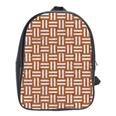 WOVEN1 WHITE MARBLE & RUSTED METAL School Bag (XL)
