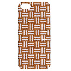 WOVEN1 WHITE MARBLE & RUSTED METAL Apple iPhone 5 Hardshell Case with Stand