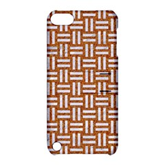 WOVEN1 WHITE MARBLE & RUSTED METAL Apple iPod Touch 5 Hardshell Case with Stand
