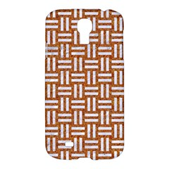 WOVEN1 WHITE MARBLE & RUSTED METAL Samsung Galaxy S4 I9500/I9505 Hardshell Case