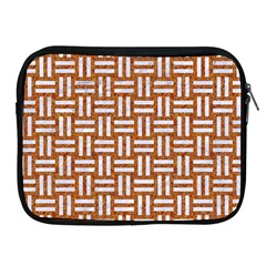 WOVEN1 WHITE MARBLE & RUSTED METAL Apple iPad 2/3/4 Zipper Cases