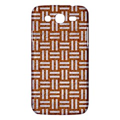 WOVEN1 WHITE MARBLE & RUSTED METAL Samsung Galaxy Mega 5.8 I9152 Hardshell Case