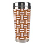 WOVEN1 WHITE MARBLE & RUSTED METAL Stainless Steel Travel Tumblers Left