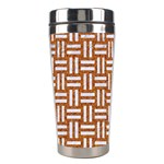 WOVEN1 WHITE MARBLE & RUSTED METAL Stainless Steel Travel Tumblers Center