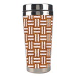 WOVEN1 WHITE MARBLE & RUSTED METAL Stainless Steel Travel Tumblers Right