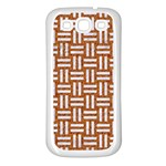 WOVEN1 WHITE MARBLE & RUSTED METAL Samsung Galaxy S3 Back Case (White) Front