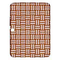 WOVEN1 WHITE MARBLE & RUSTED METAL Samsung Galaxy Tab 3 (10.1 ) P5200 Hardshell Case