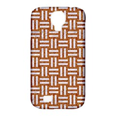 WOVEN1 WHITE MARBLE & RUSTED METAL Samsung Galaxy S4 Classic Hardshell Case (PC+Silicone)