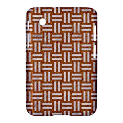 WOVEN1 WHITE MARBLE & RUSTED METAL Samsung Galaxy Tab 2 (7 ) P3100 Hardshell Case
