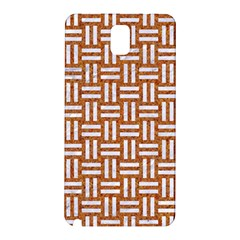 WOVEN1 WHITE MARBLE & RUSTED METAL Samsung Galaxy Note 3 N9005 Hardshell Back Case