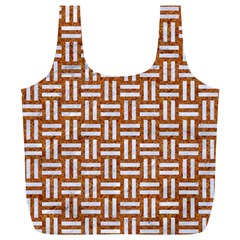 WOVEN1 WHITE MARBLE & RUSTED METAL Full Print Recycle Bags (L)