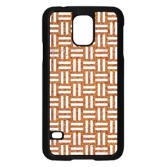 WOVEN1 WHITE MARBLE & RUSTED METAL Samsung Galaxy S5 Case (Black)
