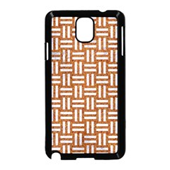 WOVEN1 WHITE MARBLE & RUSTED METAL Samsung Galaxy Note 3 Neo Hardshell Case (Black)