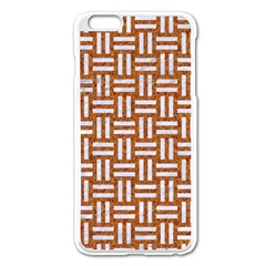WOVEN1 WHITE MARBLE & RUSTED METAL Apple iPhone 6 Plus/6S Plus Enamel White Case