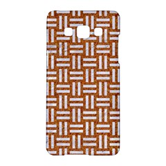 WOVEN1 WHITE MARBLE & RUSTED METAL Samsung Galaxy A5 Hardshell Case
