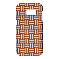 WOVEN1 WHITE MARBLE & RUSTED METAL Samsung Galaxy S7 Hardshell Case