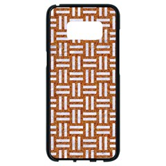 WOVEN1 WHITE MARBLE & RUSTED METAL Samsung Galaxy S8 Black Seamless Case