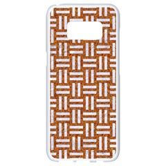 WOVEN1 WHITE MARBLE & RUSTED METAL Samsung Galaxy S8 White Seamless Case