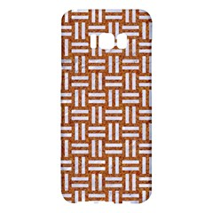 WOVEN1 WHITE MARBLE & RUSTED METAL Samsung Galaxy S8 Plus Hardshell Case