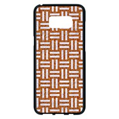 WOVEN1 WHITE MARBLE & RUSTED METAL Samsung Galaxy S8 Plus Black Seamless Case